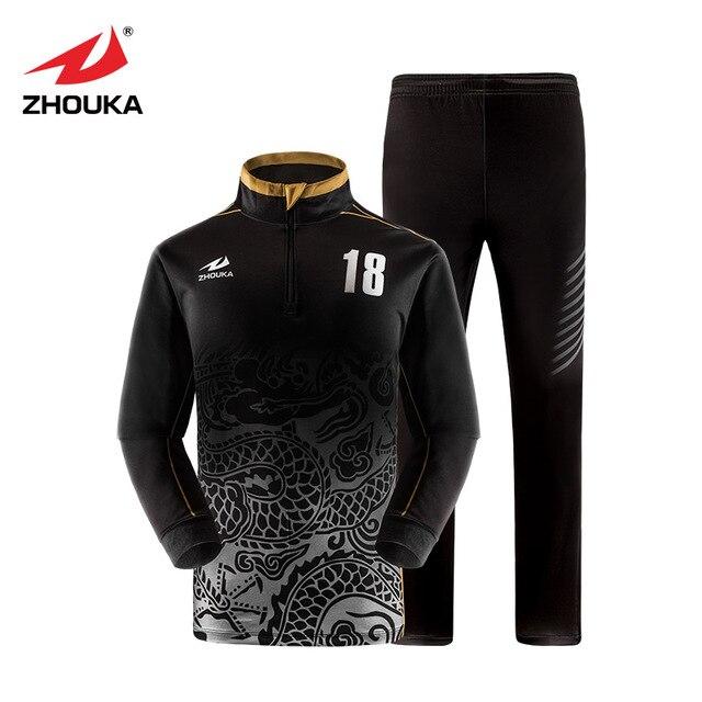 Personalizado para hombre de fútbol chándales conjunto de entrenamiento de  invierno de manga larga trajes de 310c097c12d8a