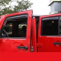 Styling Auto Car Windows Rain Wind Sun Shield Deflector Visor Trim For Jeep Wrangler 2007 17 Grand Cherokee ADA036