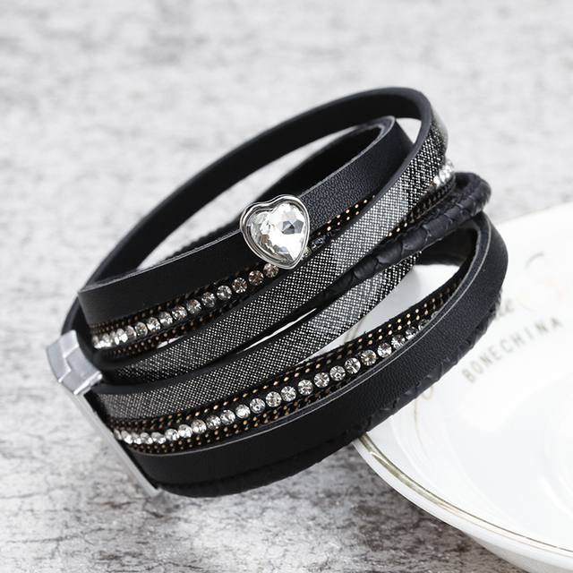 Women's Luxury Multilayer Leather Bracelet