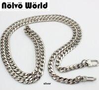 High Grade 120cm 130cm 9mm Width DIY Bag Strap Chain Purse Handle Purse Metal Strap Chain
