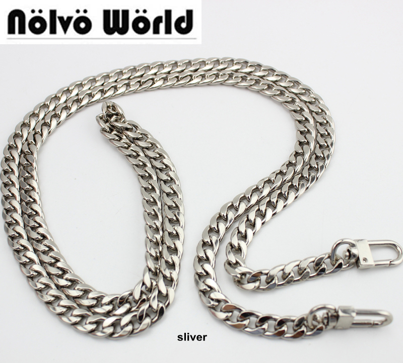 1 Piece High Grade 120cm 130cm 9mm Width DIY Bag Strap Chain Purse Handle Purse Metal Strap Chain Strap Replaced