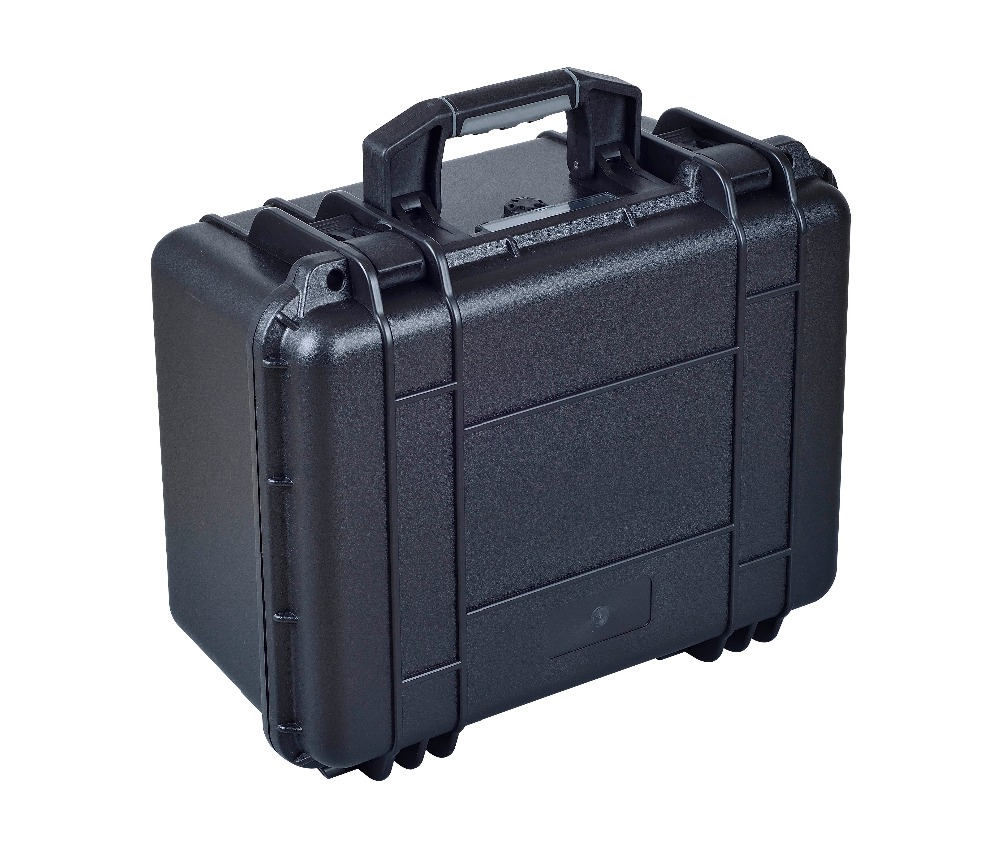 external 428*350*230mm waterproof shockproof hard equipment case with pick pluck foam tool case gun suitcase box long toolkit equipment box shockproof equipment protection carrying case waterproof with pre cut foam