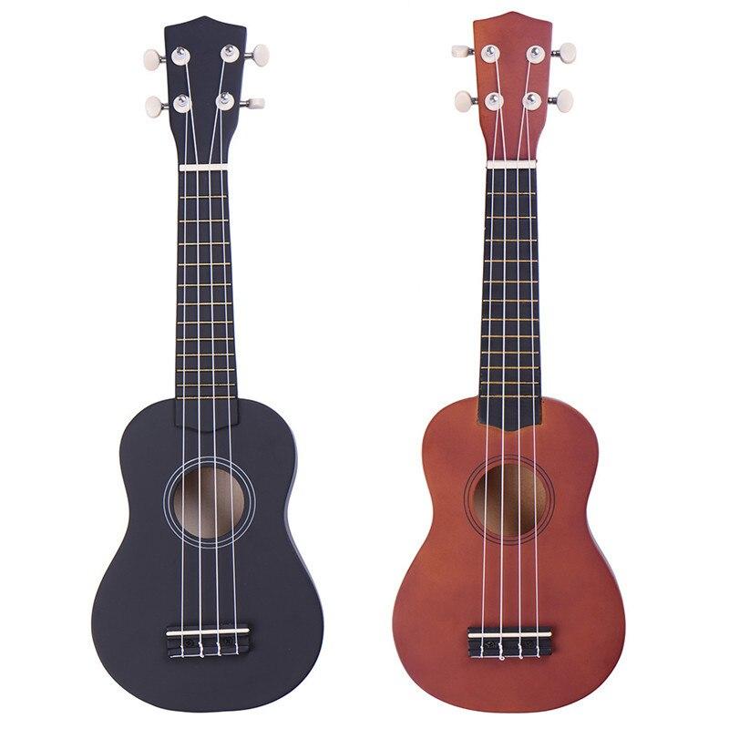21 inch Ukulele 12 Fret 4 Strings Basswood Ukulele Hawaii Guitar Soprano Ukelele Strings Musical Insrument Packing With Bag