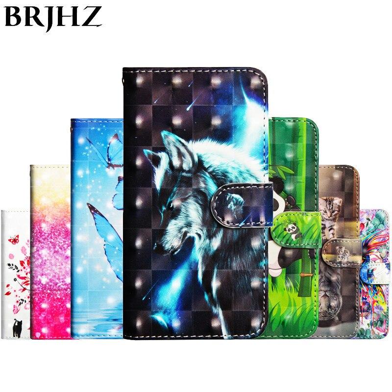 Flip Leather Case For Fundas Asus ZenFone Max Plus M1 ZB570TL case For coque Asus ZB570TL Cover 3D panda Wallet Stand Phone Case