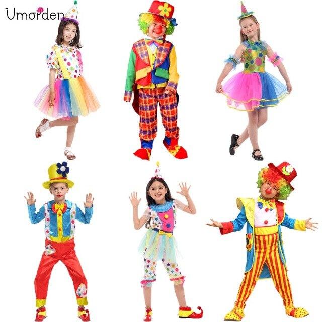 10a7829011 Umorden Trajes de Halloween Crianças Crianças Big Top Impertinente Traje Do  Palhaço de Circo Fantasia Fantasia