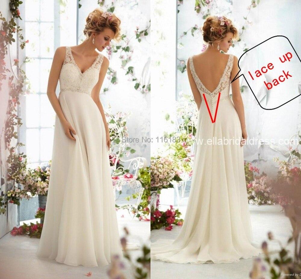 2015 White/ivory Vestido De Noiva Hot Sale Long Chiffon