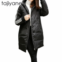 TAJIYANE 2018 Polyester Soft Fabric Jacket Plus Size 5XL Hooded Coat Woman Clothes Winter Jacket With Pockets New Fashion LD228