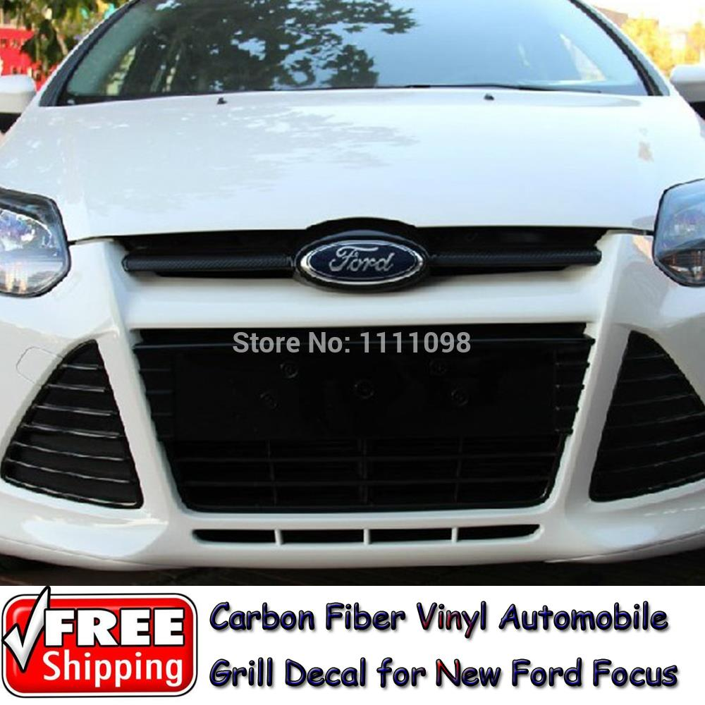 Car carbon sticker design - 2 X Newest Style Carbon Fiber Vinyl Sticker Car Head Sticker Special Designed For Ford Focus