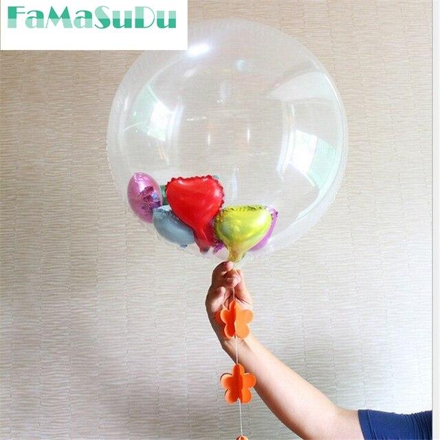1 Stuk Transparante Ballonnen 1 Grote Ronde Ballon 24 Inch