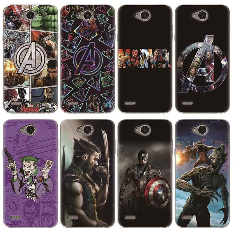 Soft TPU Coque Case For LG V20 V30 X Power 2 G8 ThinQ Q6 Q7 G6 G5 K4 K8 K11 K10 2017 2018 Nexus 5X Case Marvel Avengers Heroes