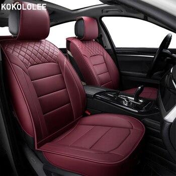 kokololee PU Leather Auto Universal Car Seat Cover Automotive Seat Covers for toyota lada kalina granta priora renault logan bmw