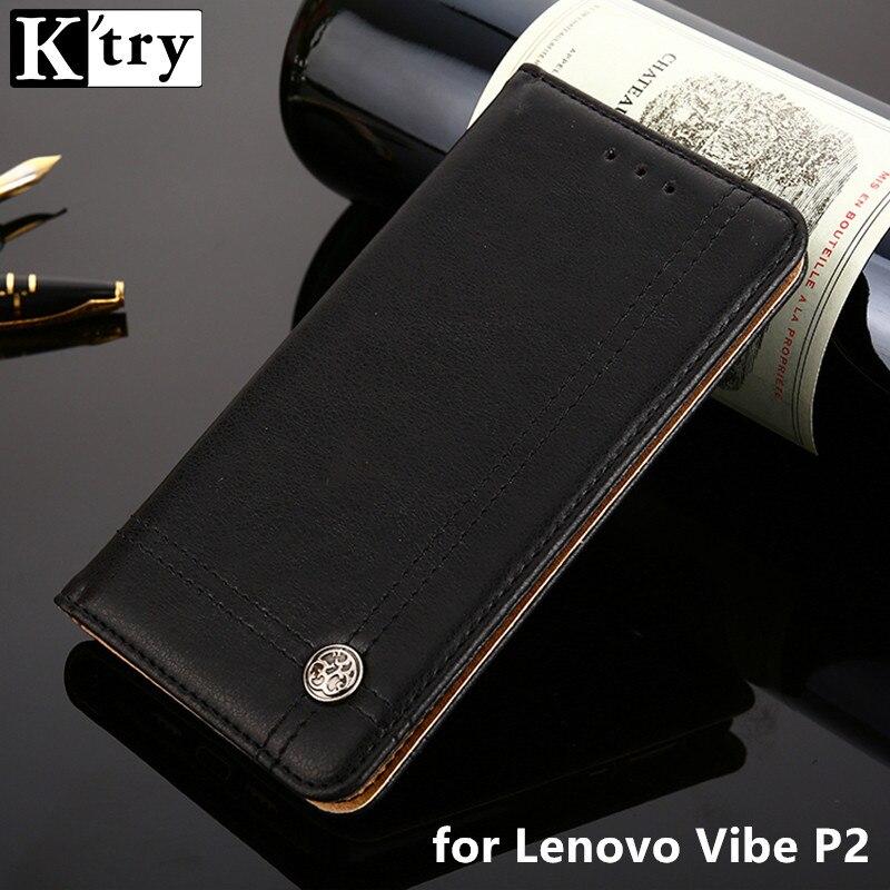 K'TRY Case for Lenovo Vibe P2 Cover Trending Style PU Leather Card Holder 5.5 Inch Wallet Cases For Lenovo P2 Fundas
