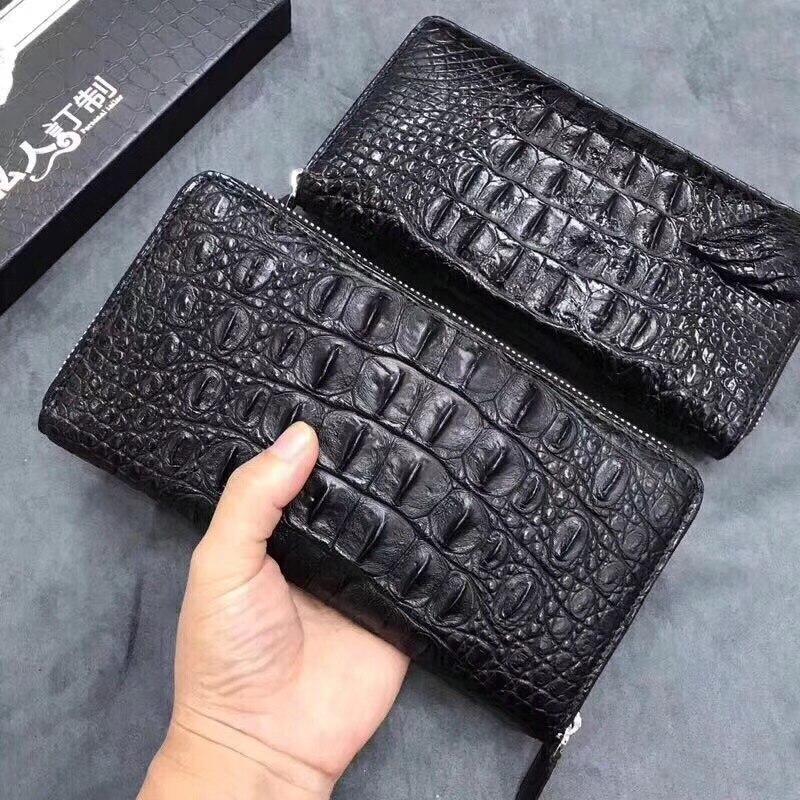 Crocodile leather clutch Crocodile Leather Wallet Crocodile Skin Long Wallet