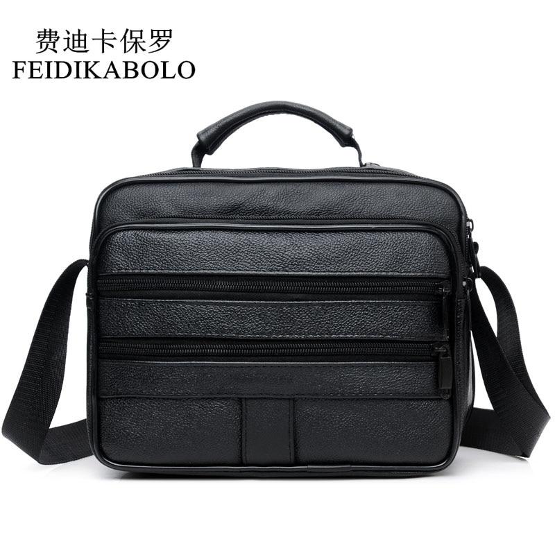 5d57dae1f735 FEIDIKABOLO Genuine Leather Mens Bags Fashion Men Crossbody Bags High  Quality Leather Male Bags handbags Men s