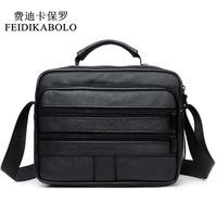 FEIDIKABOLO Genuine Leather Mens   Bags   Fashion Men   Crossbody     Bags   High Quality Leather Male   Bags   handbags Men's Shoulder   Bags   Man