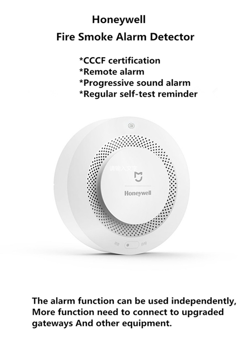 US $24 99 |New Original Xiaomi Mijia Honeywell Smoke Detector Fire Alarm  Audible Sound Alarm Smart Home Remote Control Work With Gateway-in Smart