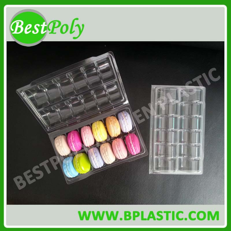 HOT SALE 12 Macarons clamshell packaging box macaron