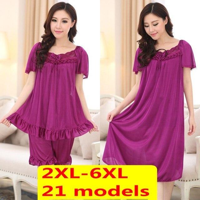 Бесплатная доставка плюс размер XXL XXXL XXXXL 5xl 6xl бренд летом стиль пижамы женщин ночное белье продукты секса ночная рубашка платье ночь
