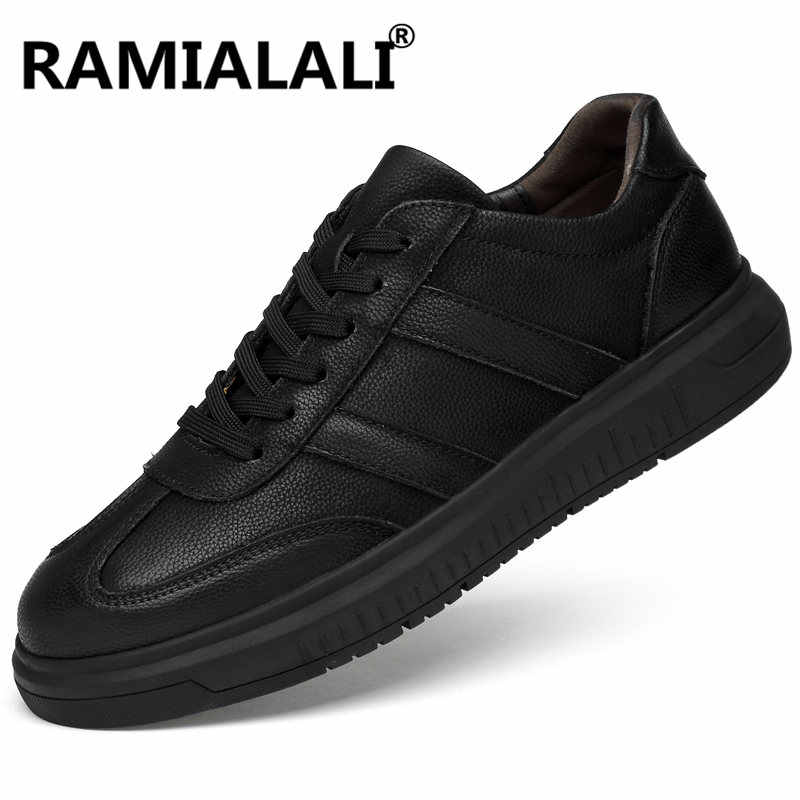 Echt Leer Mannen Casual Schoenen Soft Lace Up Man Fashion Brand Flats Comfy Sneakers Man Luxe Designer Schoenen Plus Size