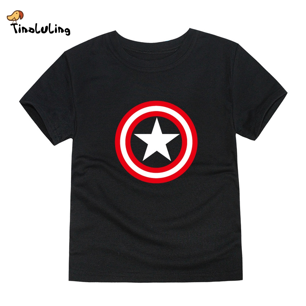 Tinoluling boys captain america t shirt children brand Boys superhero t shirts