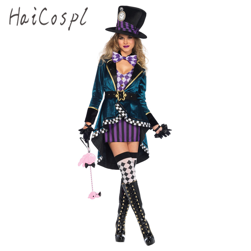 Halloween alice no país das maravilhas trajes mulher mágico cosplay meninas princesa quess magia cosplay casaco feminino