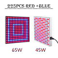 Full spectrum LED Grow light 45W 65W Red+Blue AC85-265V led plant growing lamp Hydroponic Flowering Free shipping
