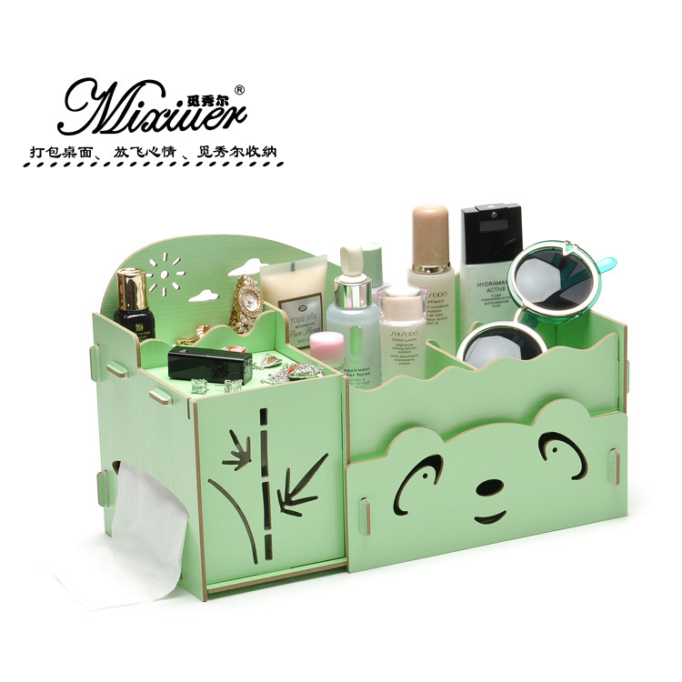 Manufacturers new look show Seoul M801 panda wooden box DIY drawer storage box wooden box