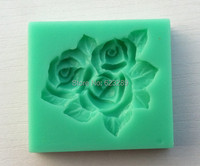 Wholesale 3D 100 Food Grade Silicone Mold 10Pcs Lot Roses Shapes Cake Chocolate Candy Jello Silicone