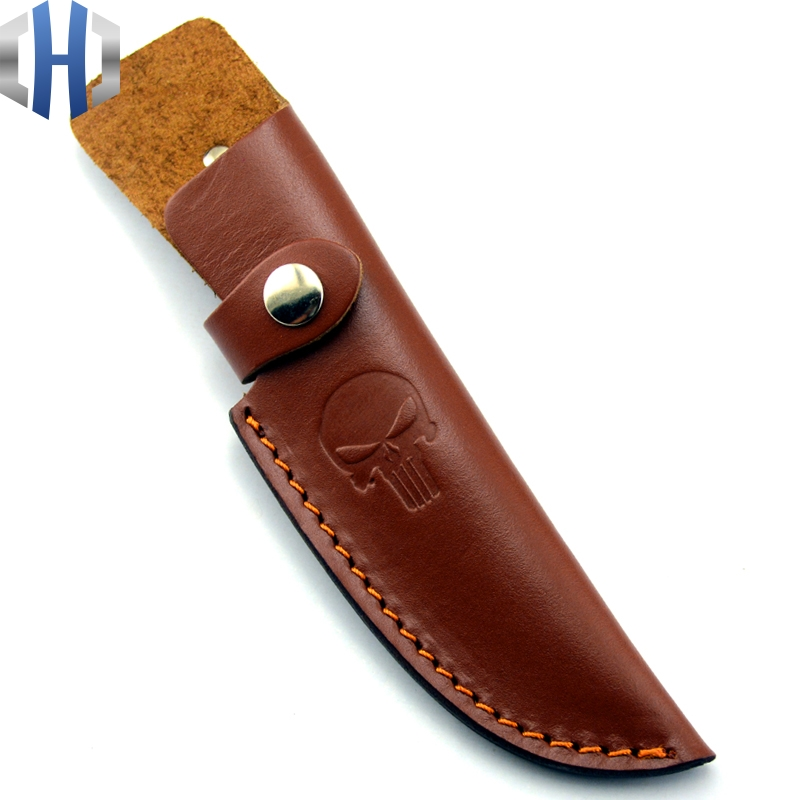 Italian Skull Knife Scabbard Classic Design Fixed Blade Hunting Knife Sheath Brown Leather Accessories Cowhide Edc Multi Tools Outdoor Tools Aliexpress