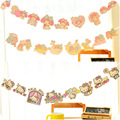 1 pc Cute Cartoon Kitty&Little Twin Stars& My Melody Garland Flag For Kids Birthday Party Decoration Holiday Banner Supplies