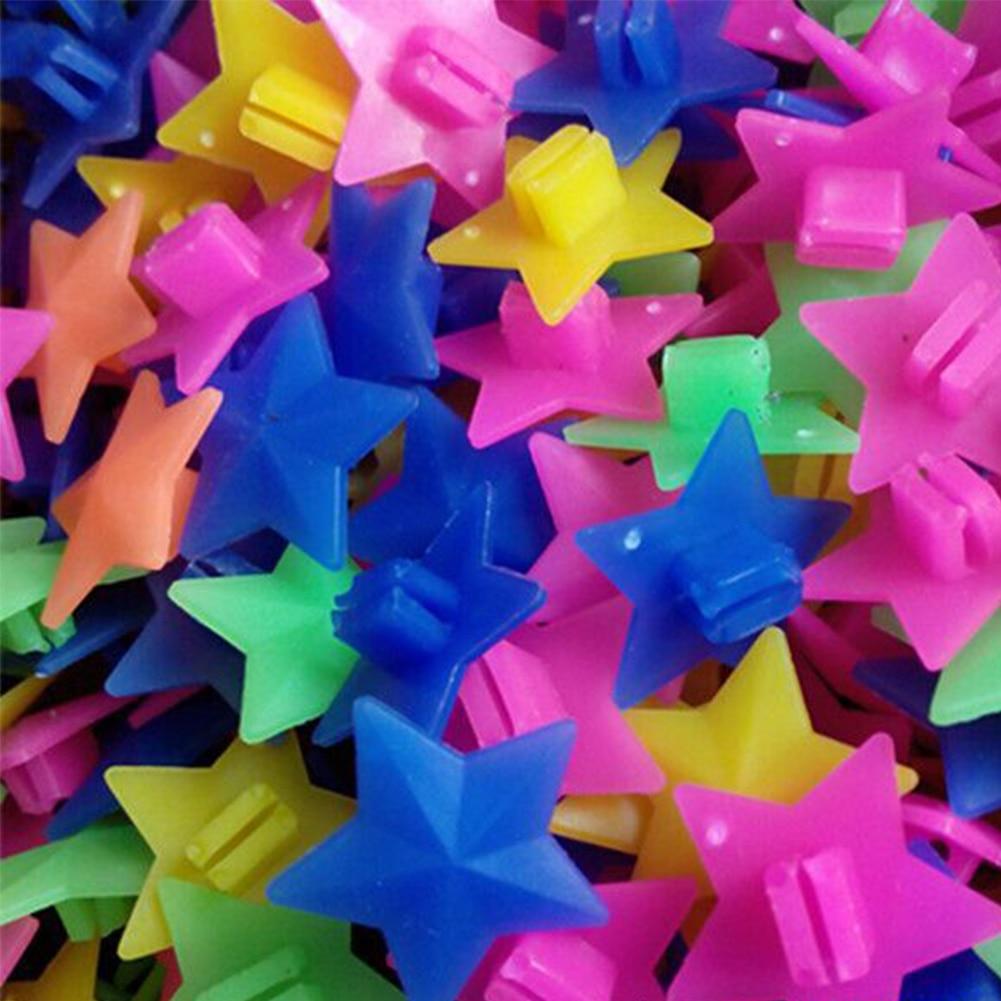 Reflectors Stars 36pcs/bag Plastic Bike Wheel Spoke Colorful Star Decoration Reflector Drop Shipping #0904