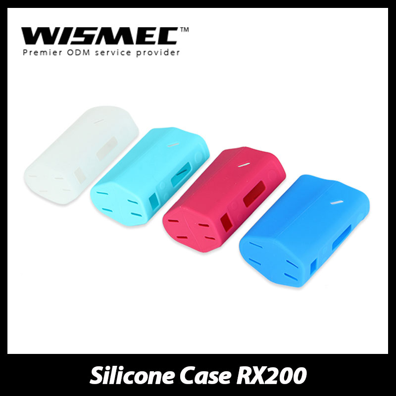Original Wismec Reuleaux RX200 Box Mod Rubber Silicone Case/Sleeve/Skin/Cover Special Surface for rx 200 image