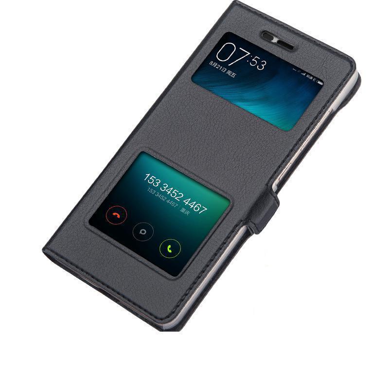 New Double Open Window Phone Case For Xiaomi Redmi 4a Flip