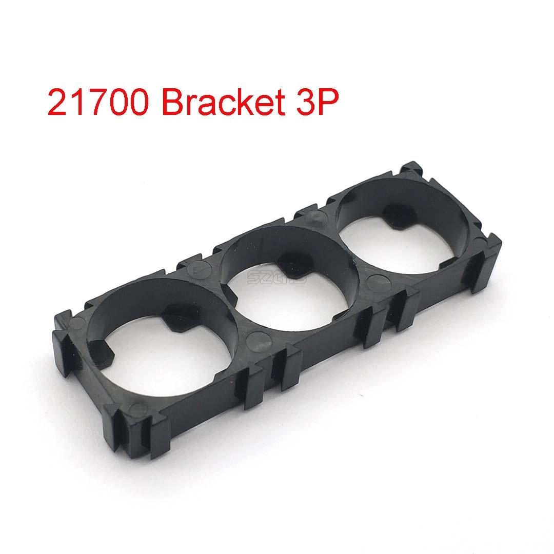 10 Pcs 21700 3x Battery Holder Bracket Cell Safety Anti Vibration Plastic Brackets For 21700 Batteries