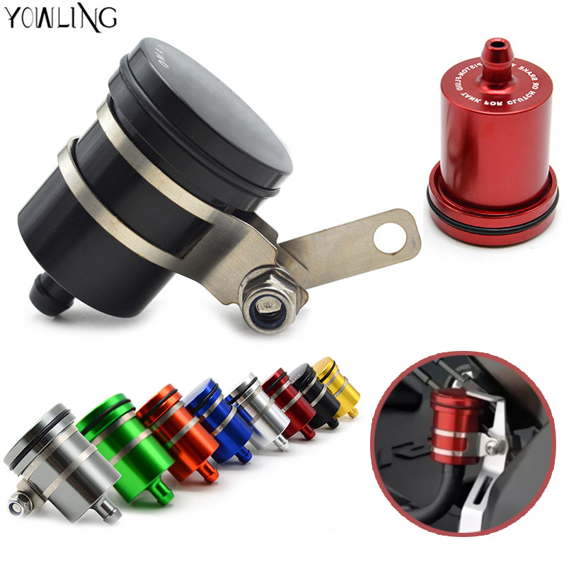 Universal Motorcycle Brake Fluid Reservoir Clutch Tank Oil Fluid Cup For ktm Triumph Speed Triple 1050 Street Triple  all year motorcycle brake fluid reservoir clutch tank oil fluid cup universal for yamaha r1 r3 r6 mt 07 mt 09 mt07 mt 07 tmax 530 ktm