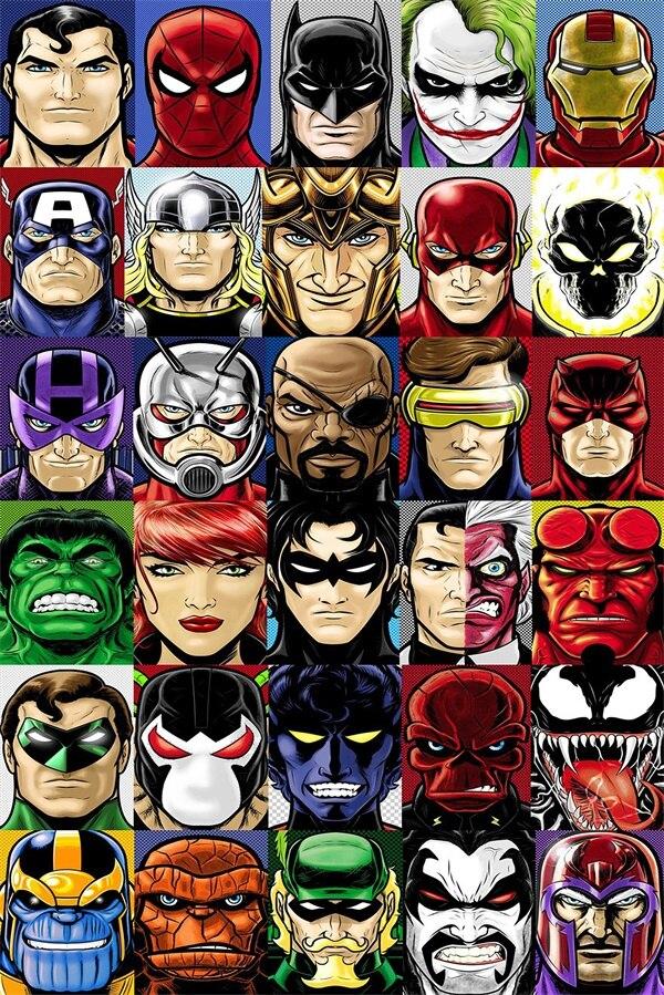 Superhero Wall Murals popular superhero wall murals-buy cheap superhero wall murals lots