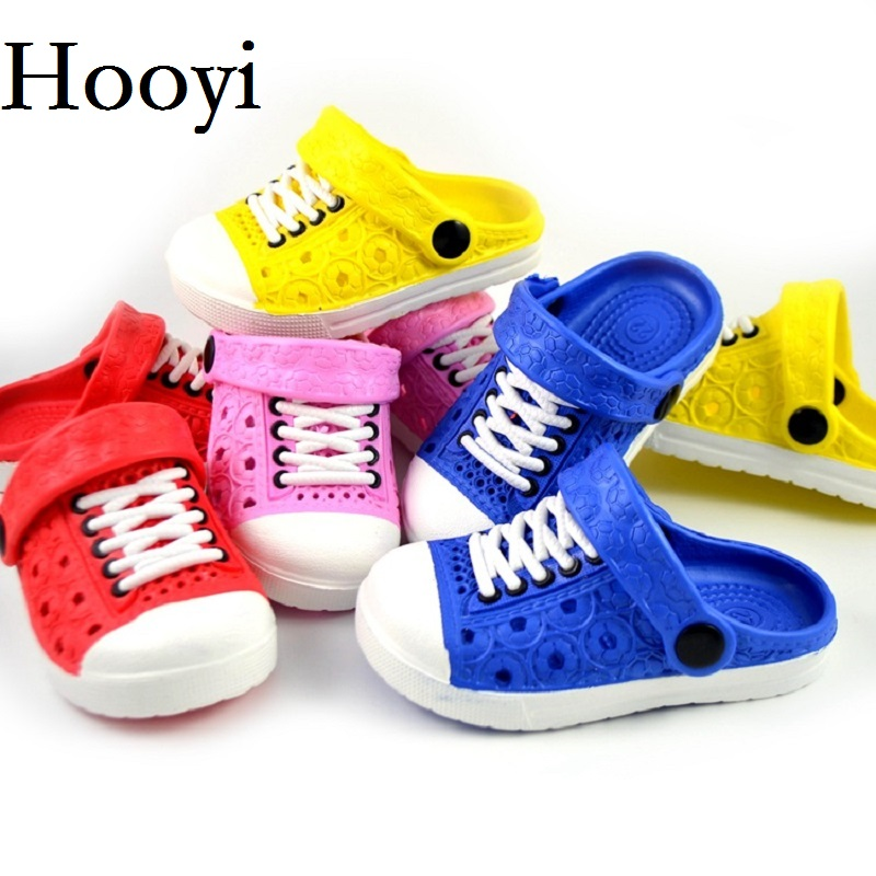 Hooyi Baby Boy Shoes Summer Cool Children Hollow Girls Moccasins Fashion Slippers Kids Clogs Hot Sale Toddler Sneakers 13-18CM