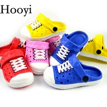Hooyi Baby Boy Skor Barn Sandaler Hollow Girls Moccasins Mode Tofflor Kids Clogs Hot Sale Toddler Sneakers 13-18CM