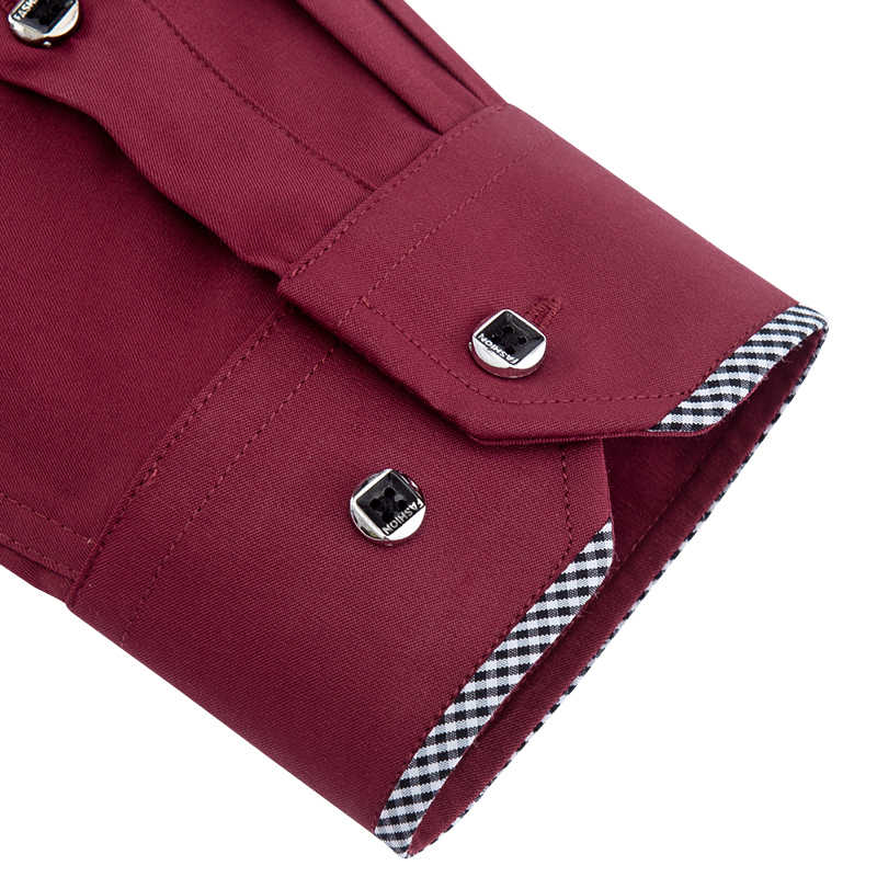 DAVYDAISY 2019 秋新メンズシャツ長袖ファッション固体ツイルビジネス因果男性シャツブランドスリムフィット服 DS268