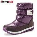 Zapatos de marca botas de nieve para niños de nueva invierno niño femenino cargadores calientes fabricante al por mayor