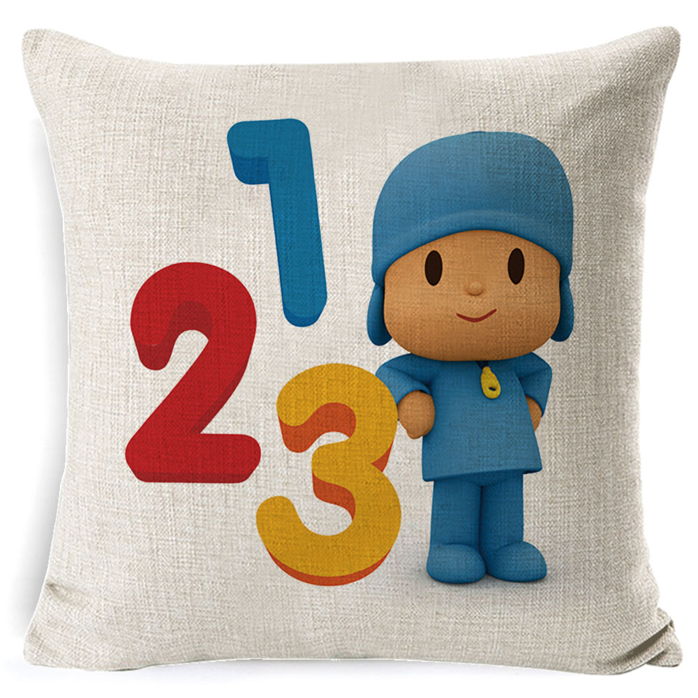 PEIYUAN-Pocoyo-Elly-Pato-Loula-Pocoyo-Dog-Duck-Cushion-Cover-Square-Plain-Multicolor-Pillowcase-Pillowsilp-for