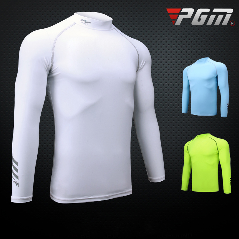 PGM Golf Training T-shirt For Men Breathable Quick Dry Sports Long Sleeve Shirt Brand Golf Clothing Man Professional Golf Shirts