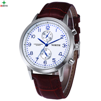 Montre Homme Reloje Hombre 2016 Luxury Watches Men Famous Brand Quartz Watch Men Whatch Genuine Leather