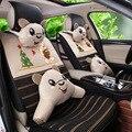 Mulheres confortável bonito listra horizontal estéreo do carro tampas de assento de seda gelo de refrigeração para o verão confortável e respirável GFDFCA008