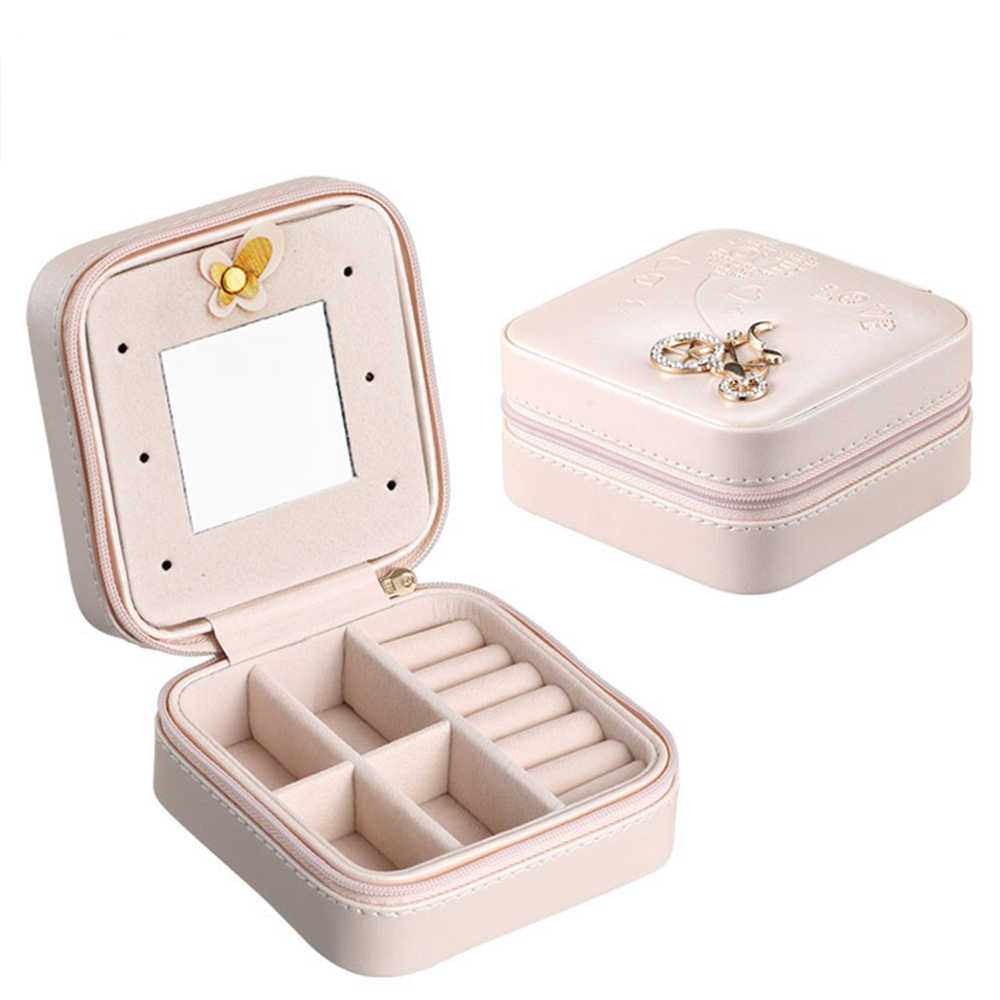 Jewelry Display Box Earrings Holder Jewelry Packaging Leather Storage Boxes Necklace Rings Organizer Gift Boxes Jewellery