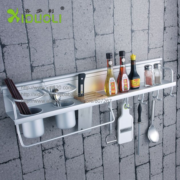 Xiduoli Free Shipping Wall Mounted Kitchen Knife Rack E Aluminum