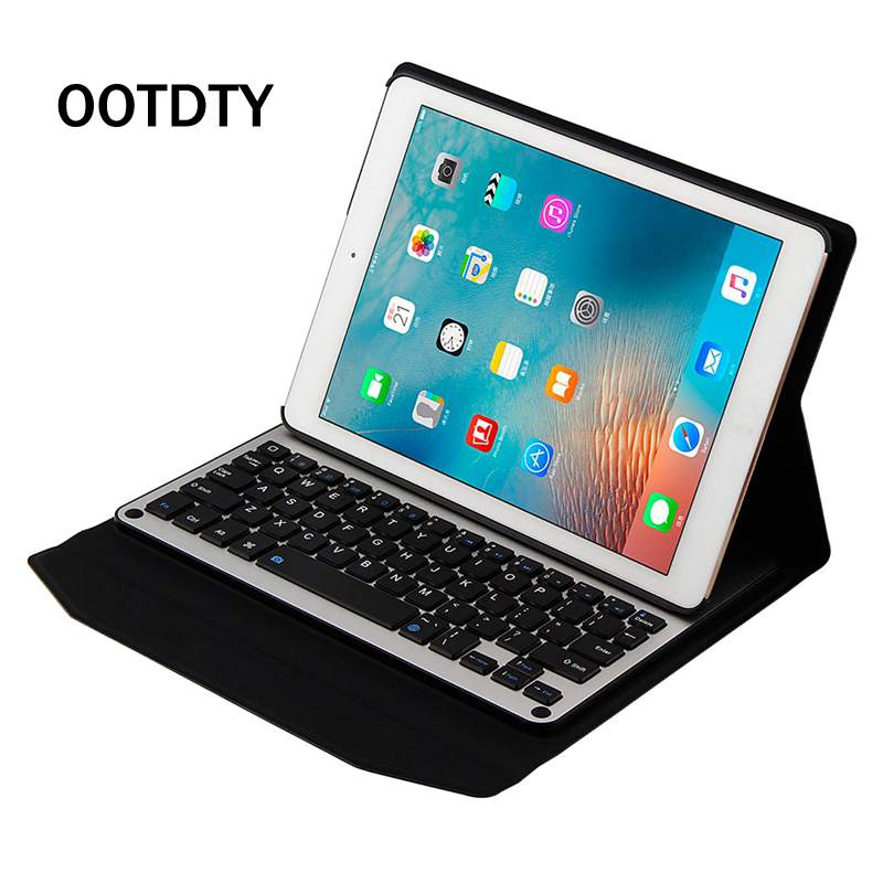 OOTDTY 9.7 Aluminum Bluetooth 3.0 Keyboard Case Cover Stand For Apple iPad Air 1 2 Tablet Working Hours 150H