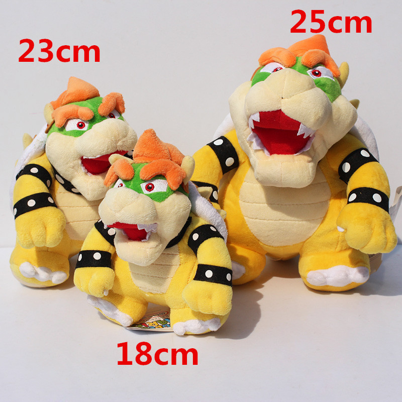 Retail 1pcs Standing Bowser Plush Super Mario Bowser Koopa Stuffed Doll Soft Plush Doll Gift For Children Free Shipping
