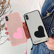 Simple phone Case For iPhone XS Max 6 7 X  XR 8 6S Plus Mirror Soft Silicone PPTANG New Cover Bags