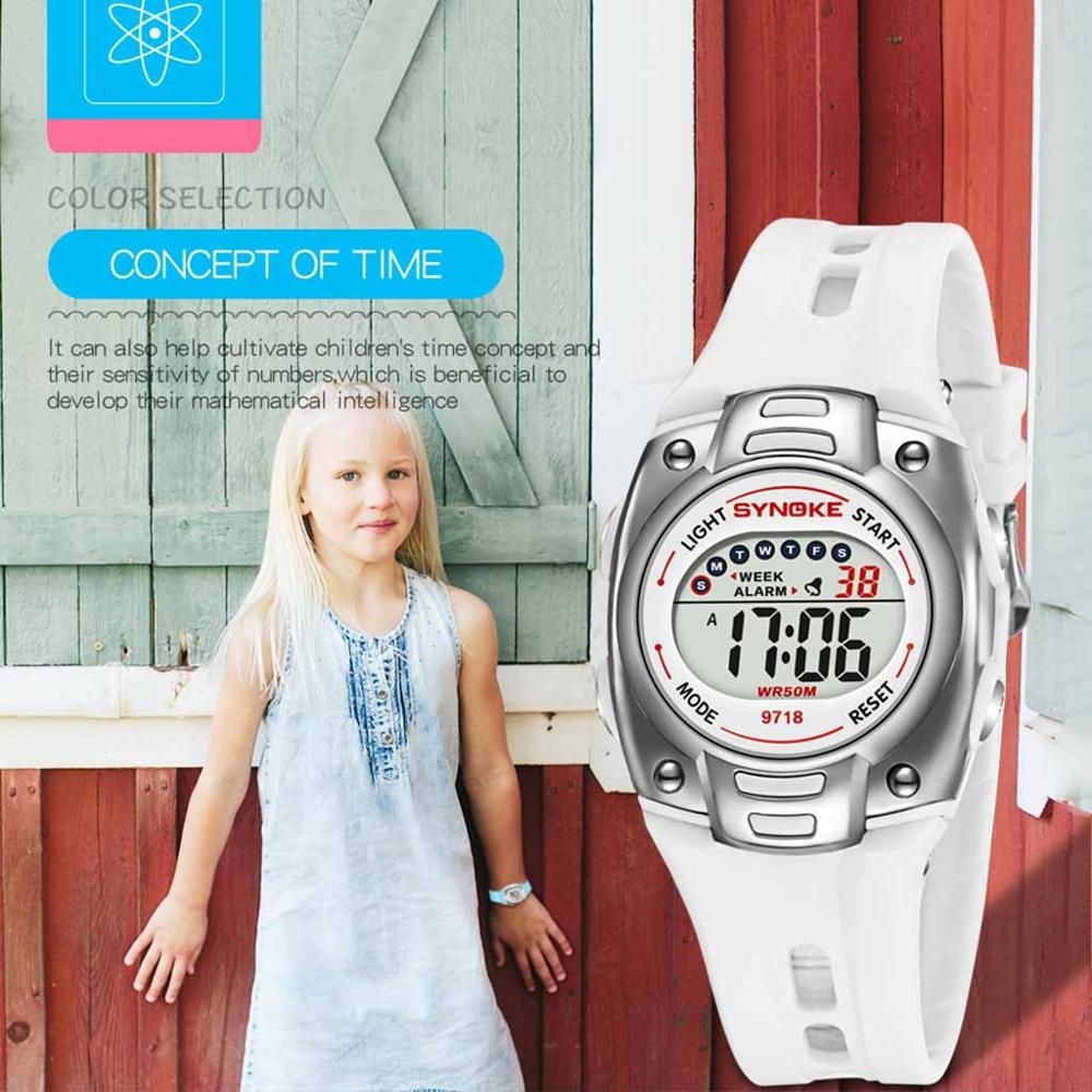 Boys Girls Student Luminous Waterproof Watch Kid Children Sports  Digital LED Electronic Multi Function Watch Relogio Infantil Q